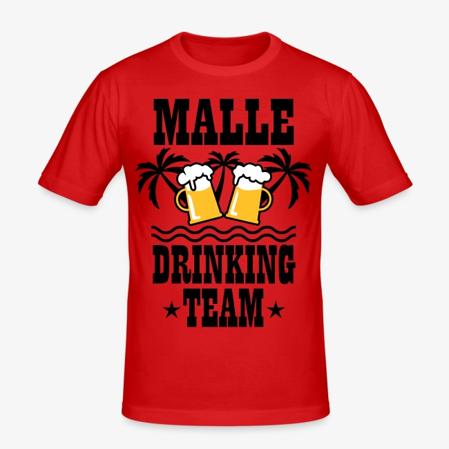 08 Malle Drinking Team Beer Mass Bier Party T-Shirt
