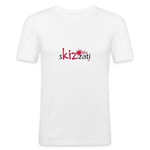 T-Shirt attillata uomo cotone sKizzati rosso - Maglietta aderente da uomo