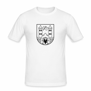 Suhl Wappen (schwarz) - Men's Slim Fit T-Shirt