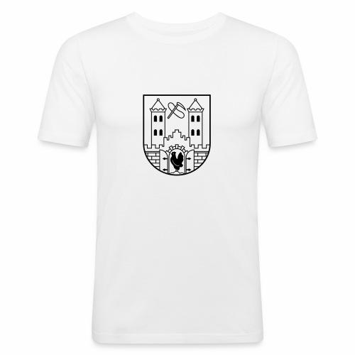 Suhl Wappen (schwarz) - Men's Slim Fit T-Shirt