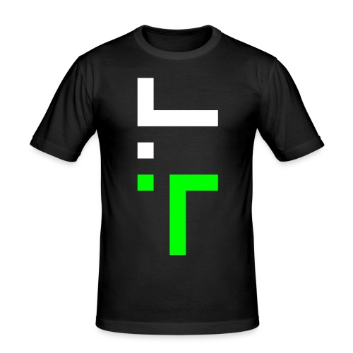 TT L10 - NEON ON BLACK - Men's Slim Fit T-Shirt