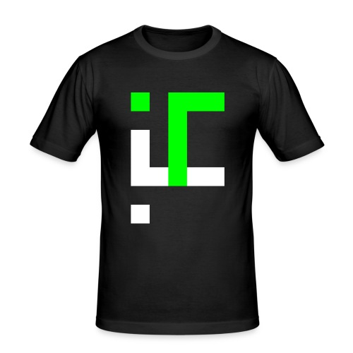 TT L3 - NEON ON BLACK - Men's Slim Fit T-Shirt