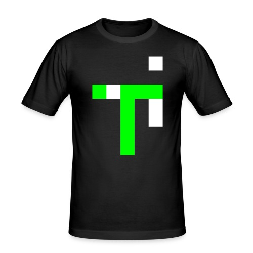 TT L9 - NEON ON BLACK - Men's Slim Fit T-Shirt