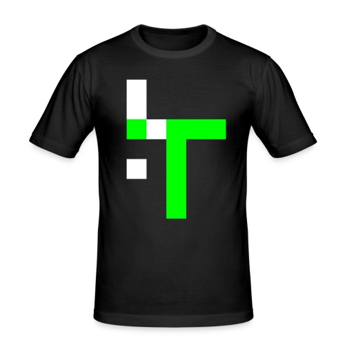 TT L13 - NEON ON BLACK - Men's Slim Fit T-Shirt