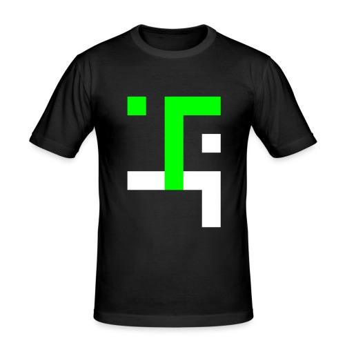 TT L4 - NEON ON BLACK - Men's Slim Fit T-Shirt