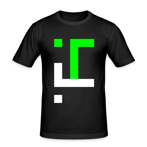 TT L5 - NEON ON BLACK - Men's Slim Fit T-Shirt