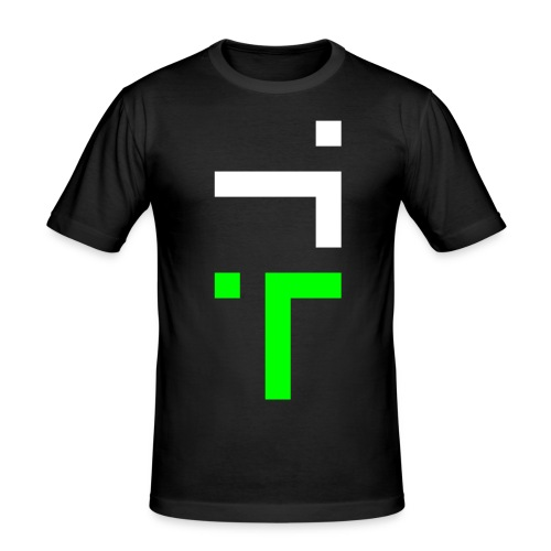 TT L8 - NEON ON BLACK - Men's Slim Fit T-Shirt