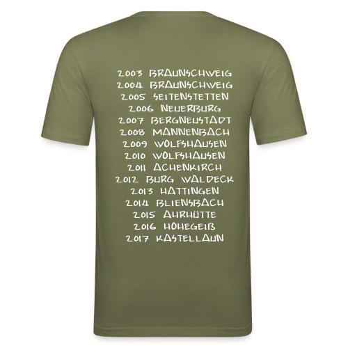 Slim Fit Herren Shirt vorn + hinten bedruckt (S - XL) - Männer Slim Fit T-Shirt