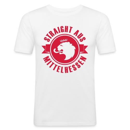 weiß Slim Fit Dane - Männer Slim Fit T-Shirt
