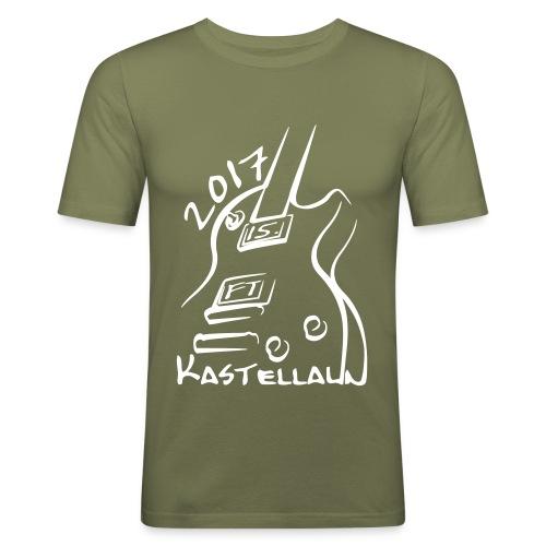 Slim Fit Herren Shirt vorn bedruckt (S - XL) - Männer Slim Fit T-Shirt