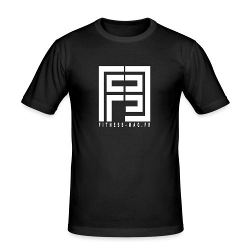 Tshirt Moulant Fitness Mag 100% coton - T-shirt près du corps Homme