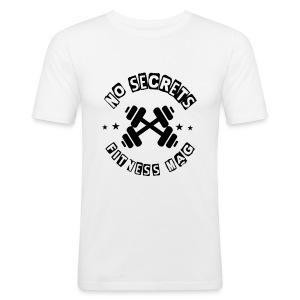 Tee shirt No Secrets Fitness Mag 100% coton - Tee shirt près du corps Homme
