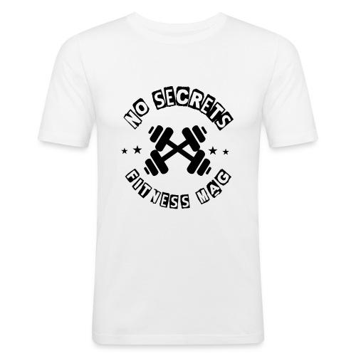 Tee shirt No Secrets Fitness Mag 100% coton - T-shirt près du corps Homme