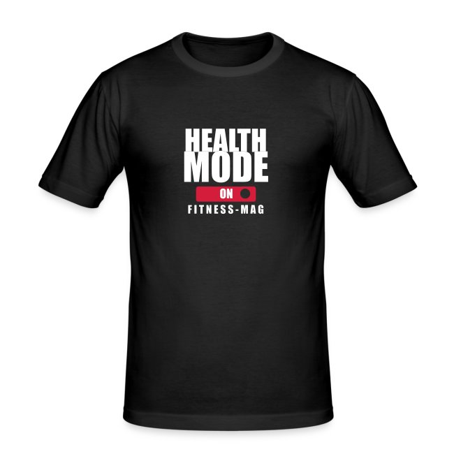 Tee shirt moulant Health Mode on 100% coton