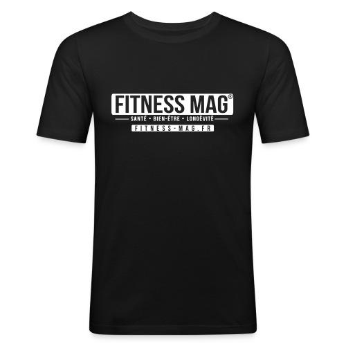 Tee shirt moulant Fitness Mag Official black 100% coton - T-shirt près du corps Homme