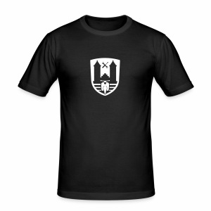 Mopedsport Wappen / Logo / Emblem (+ Dein Text) - Men's Slim Fit T-Shirt