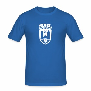 Suhl Mopedsport Schwalbe 2 Logo - Männer Slim Fit T-Shirt