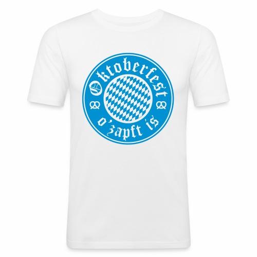 Oktoberfest O'Zapft Is Men's Slim Fit T-Shirt - Men's Slim Fit T-Shirt