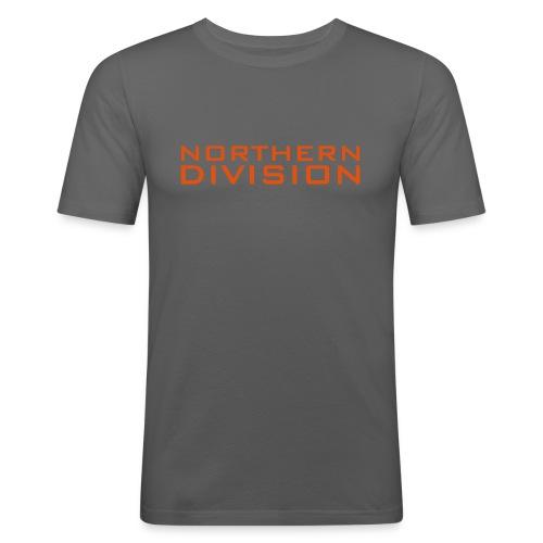 ND_tpaita_SLIMFIT_oranssi grafiikka - Miesten tyköistuva t-paita