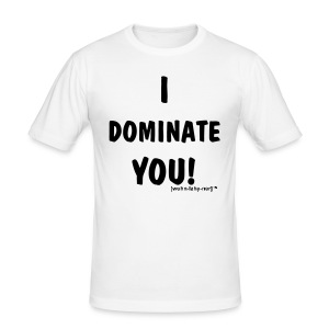 Dominate Vit - Slim Fit T-shirt herr