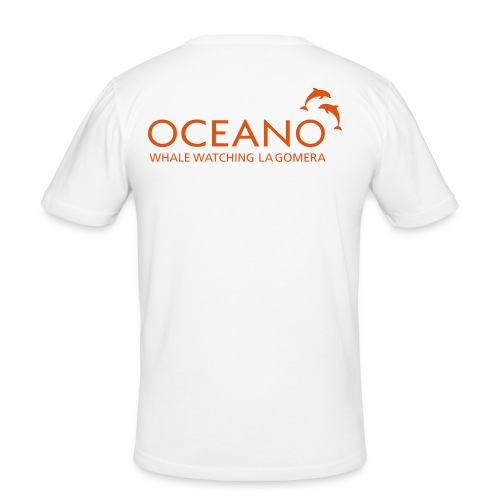 OCEANO Männer Shirt Motiv Rauzahndelfin - Männer Slim Fit T-Shirt
