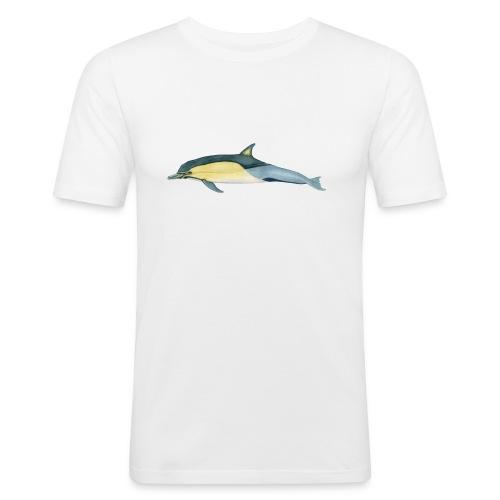 OCEANO Männer Shirt Motiv gewöhnlicher Delfin - Männer Slim Fit T-Shirt