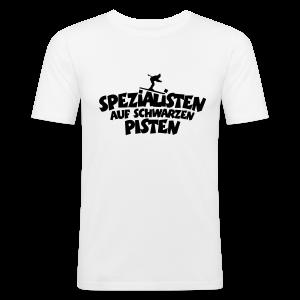 Schwarze Pisten Ski Spezialisten Slim Fit T-Shirt - Männer Slim Fit T-Shirt