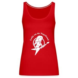 Logo hemdje rood - Vrouwen Premium tank top