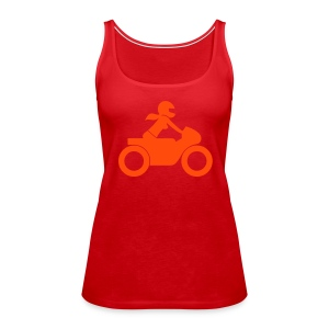 Racer | NEONred on red | front - Frauen Premium Tank Top