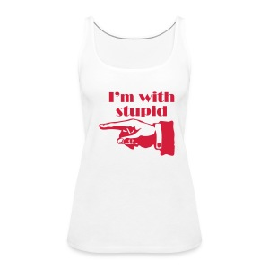 I'm With Stupid - Racer - Women's Premium Tank Top