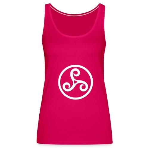 Triskel 4 - Symbole breton. Vous pouvez choisir la couleur du tee shirt. - Débardeur Premium Femme