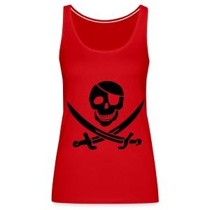 piratenshirt shirt fuer frauen rot schwarz - Frauen Premium Tank Top