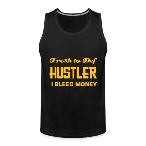 BLACK SLEEVE LESS T-SHIRT - Men's Premium Tank Top