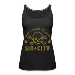 SC Skull Girlie metallic - Frauen Premium Tank Top