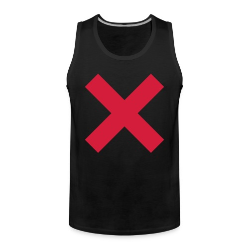 X - red/black muscle - Männer Premium Tank Top