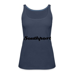 Southport Strappy Top Blue - Women's Premium Tank Top