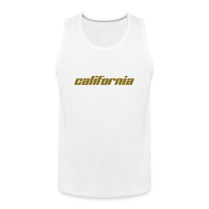 "Tank-Top ""california"" weiß - Männer Premium Tank Top"