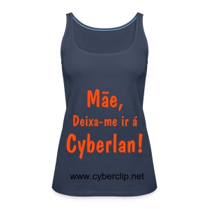 O Top Cyberlan (Azul) - Women's Premium Tank Top