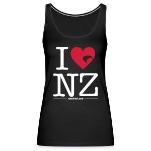 I Love New Zealand - Women's Premium Tank Top