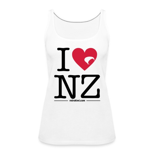 I Love New Zealand - Women's Premium Tank Top