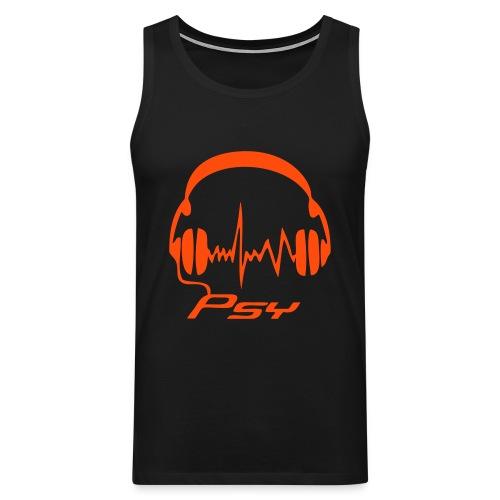 Psy Headphones - Neonorange - Men's Premium Tank Top