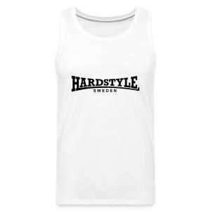 Hardstyle Sweden - Svart tryck - Flera tröjfärger - Premiumtanktopp herr