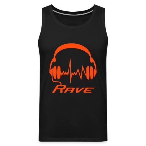 Rave Headphones - Neonorange - Men's Premium Tank Top