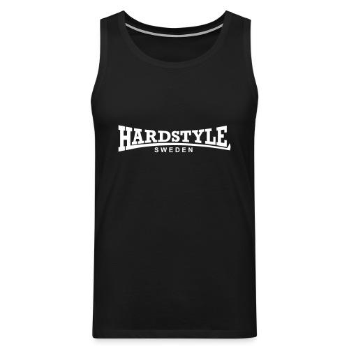 Hardstyle Sweden - Vitt tryck - Flera tröjfärger - Premiumtanktopp herr