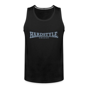 Hardstyle Sweden - Silvertryck - Flera tröjfärger - Premiumtanktopp herr