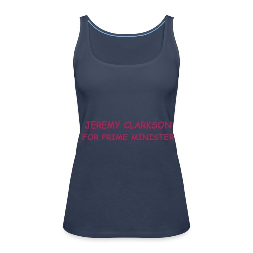 Jeremy Clarkson for Prime Minister Spaghetti Top - Lady's - Women's Premium Tank Top