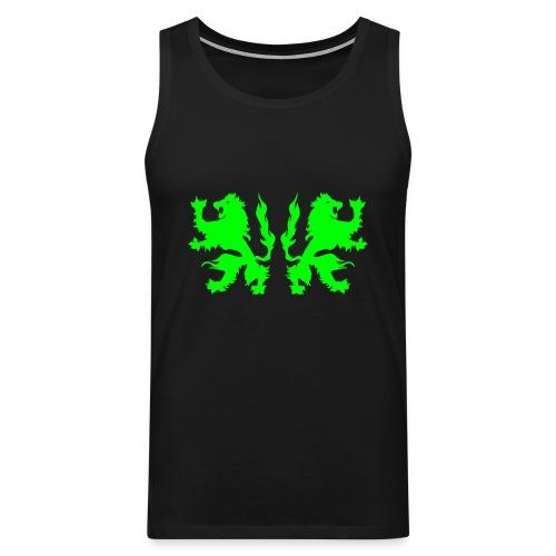 Double Lions - Neongreen - Men's Premium Tank Top