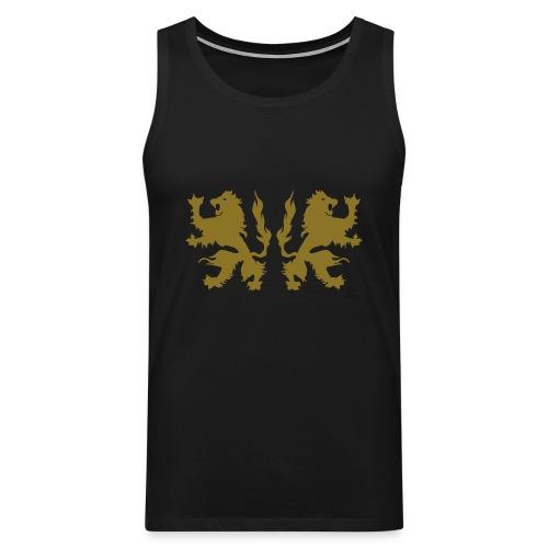 Double Lions - Gold print - Men's Premium Tank Top