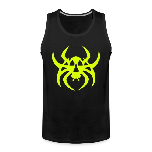 Radioactive spider - Neonyellow - Men's Premium Tank Top