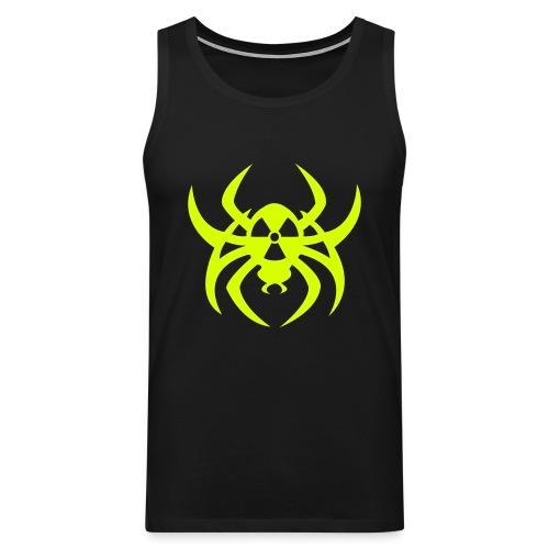 Radioactive spider - Neonyellow - Men's Premium Tank Top